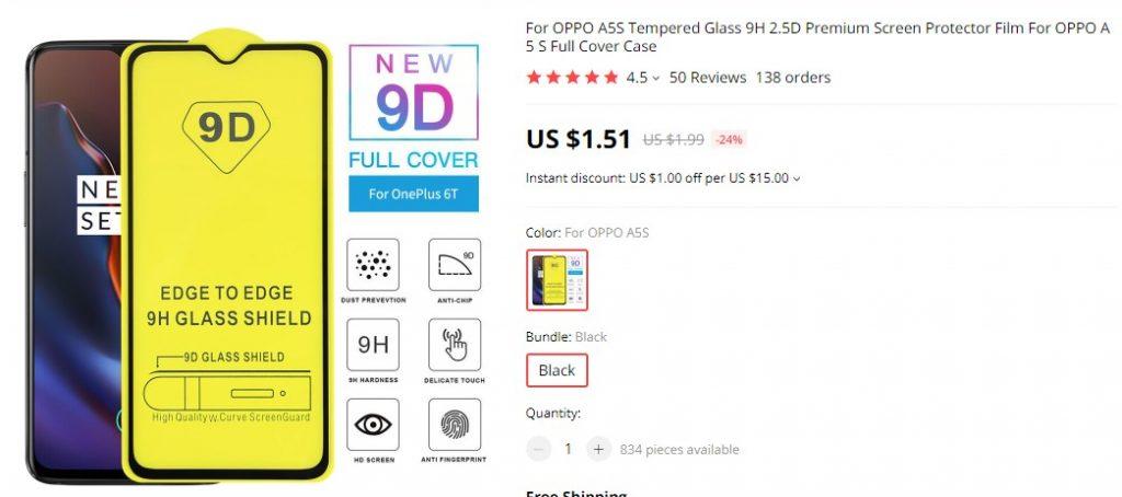 9D screen protector